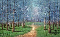 Path Beneath the Trees I by Inam -  sized 51x32 inches. Available from Whitewall Galleries